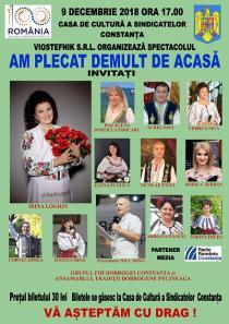 AM PLECAT DEMULT DE ACASA